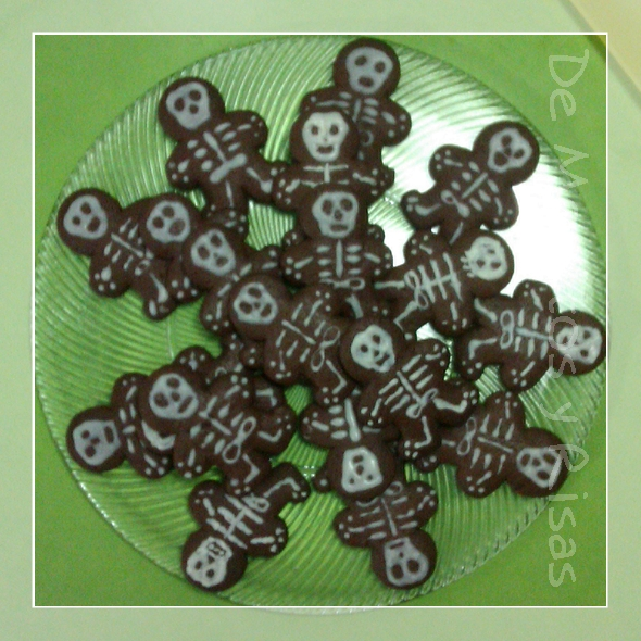Nuestras galletas-esqueletos terminadas