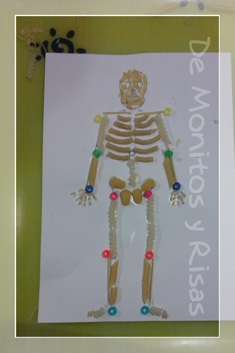 Esqueletos en la cocina; Proyecto El Cuerpo Humano. | De Monitos y